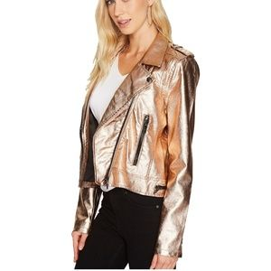 BlankNYC Women's Jacket Metallic Faux Leather XS